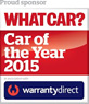 Thatcham are a Proud Sponsor of What Car? Car of the Year awards 2015